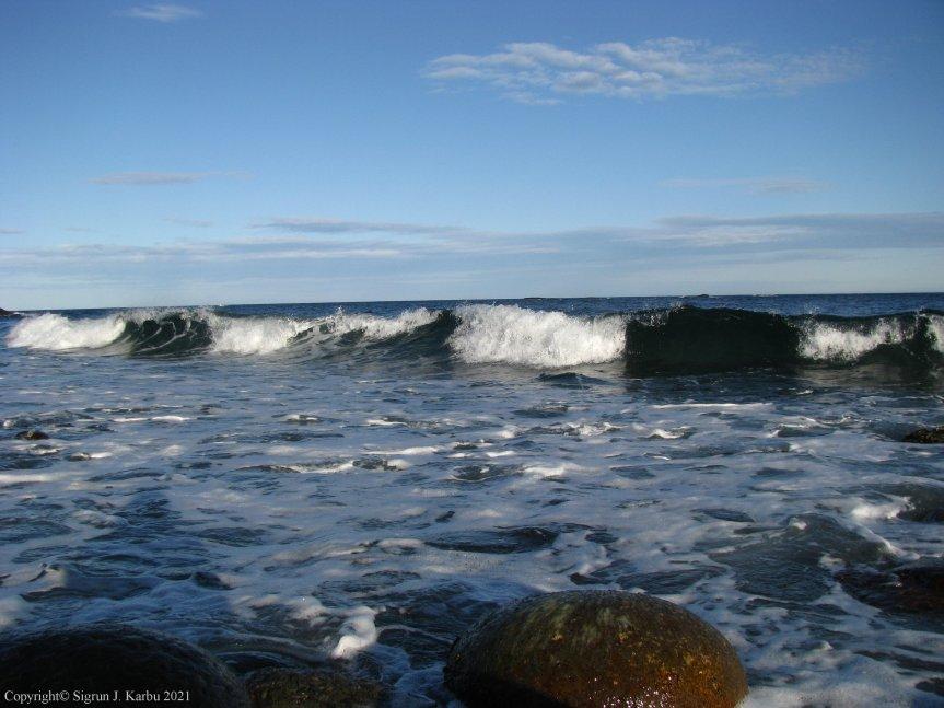 Ventebilder med havutsikt
